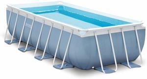10. Intex 16ft X 8ft X 42in Prism Frame Rectangular Pool Set