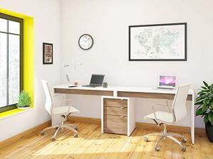 10. Nexera Liber-T 3 Piece Double Writing Desk Set