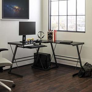 11. Walker Edison Modern Corner L Shaped Workstation Desk