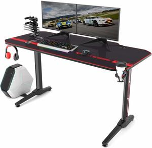 12. Vitesse 55 inch Gaming Desk Racing Style Computer Desk