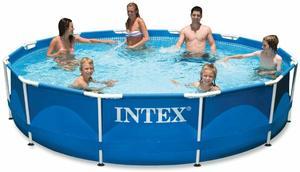 2. Intex 12 x 30 Metal Frame Pool with Filter Pump
