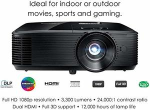 2. Optoma HD243X 1080p Projector
