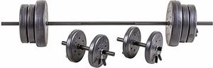 2. US Weight 105 lb. Duracast Barbell Weight Set
