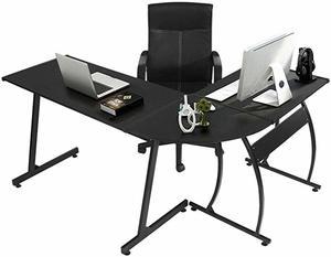 3. GreenForest L-Shaped Corner Desk 3-Piece