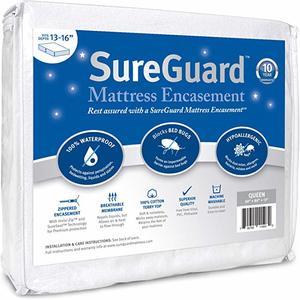 3. Queen (13-16 in. Deep) SureGuard Mattress Encasement
