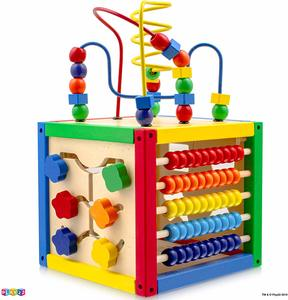 4. Play22 Activity Cube with Bead Maze - 5 in 1