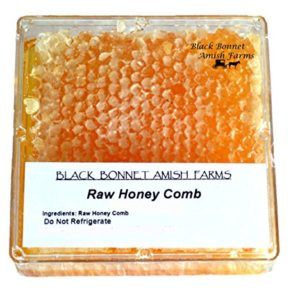 100% Pure Raw Natural Honey Comb Full of Honey in a Box 10 to 14 oz. From Black Bonnet Amish Farms