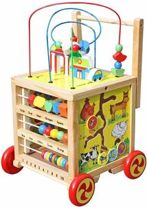 5. Timy Wooden Learning Bead Maze Cube 5 in 1