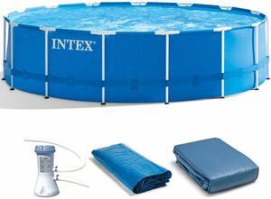 7. Intex Metal Frame Pool Set
