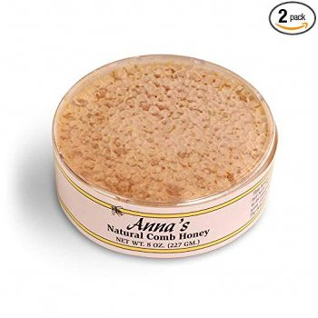 Natural Comb Honey - 8oz, Raw Honeycomb - by Anna's Honey (2 Pack)
