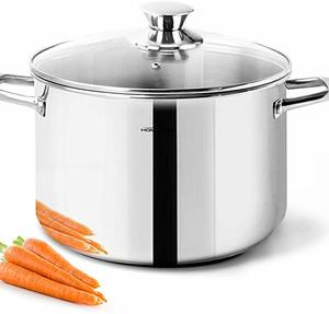 8. HOMICHEF Stock Pot 4 Quart Nickel Free Stainless Steel