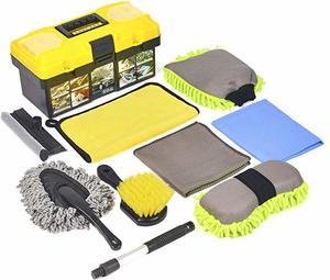 8. Konpard Ultimate Car WasCar Cleaning Tools Kit 9Pcs