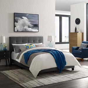 8. Modway Amira Tufted Performance Velvet Upholstered Twin Bed