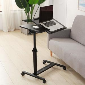 8. Tilting Overbed Table with Wheels Rolling