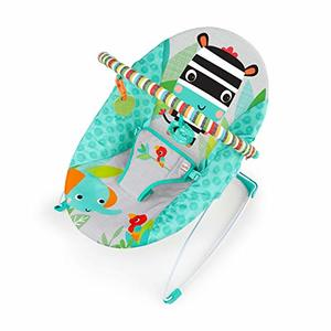 #1- Bright Starts Zig Zag Zebra Vibrating Bouncer