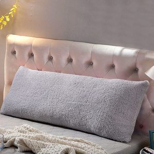#1- Reafort Ultra Soft Sherpa Body Pillow Cover Case