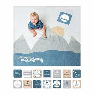 #1- lulujo Baby First Year Milestone Blanket