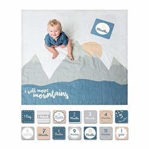#1- lulujo Baby First Year Milestone Blanket