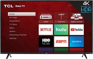 1. TCL 55S425 4K Smart LED Roku TV