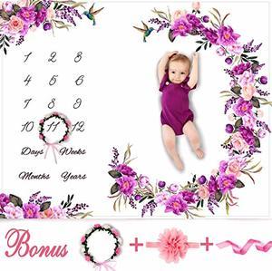 #2- Bliss n' Baby Monthly Milestone Blanket for Newborns