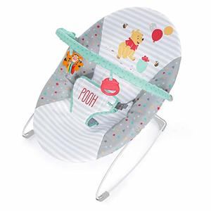#2- Bright Starts Disney Baby Winnie The Pooh Happy Hoopla Vibrating Bouncer