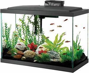 4- Aqueon LED Aquarium Kit 20H Black