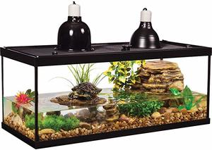 6- Tetra Aquarium Reptile Glass Kit with Two Dome Lamps