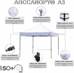 6. ABCCANOPY Commercial Instant Shelter, 10x10 FT