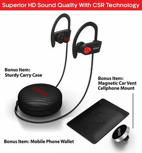 6. SENSO Bluetooth Headphones w Mic IPX7 Waterproof