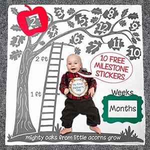 #7- Baby Wings Super Soft Monthly Milestone Blanket Set for Newborns
