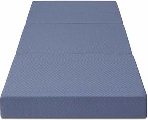 7- Olee Sleep Topper Tri-Folding Memory Foam Mattress
