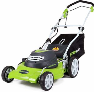 7. GreenWorks 12 Amp Electric Lawn Mower 25022