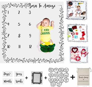 #8- Essentials Easy Baby Milestone Blanket