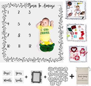 #8- Essentials Easy Baby Milestone Blanket