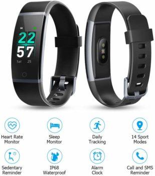 9. Letsfit Activity Tracker Watch, for Women & Men