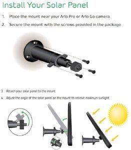 #1 Arlo Accessory - Solar Panel Compatible with Pro, Pro 2 (VMA4600)