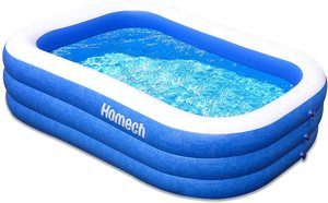 #1 Homech Family Inflatable Swimming Pool