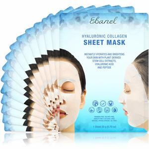 #1. Ebanel Korean Collagen Face Mask Sheet, Instant Brightening