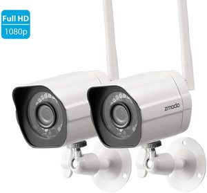 #1. Zmodo Wireless Indoor Outdoor Security Camera System Full HD Home