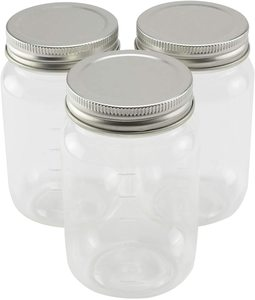 #10 3ct. Plastic Mason Jars by Craft Smart, 16oz.
