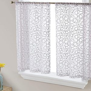 #10 HLC.ME Audrey Embroidered Sheer Window Curtain