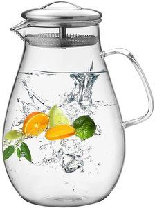 #10 Hiware 64 Ounces Glass Pitcher with Good Beverage Pitcher for Iced Tea