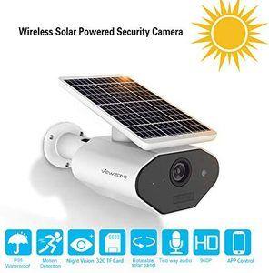 #10. ViewZone Solar Powered Wifi Security Solar Camera L4, Waterproof