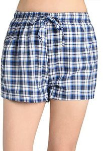 #11 Latuza Women's Plaid Sleep Shorts