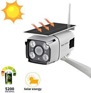 #11. Solar Powered Security Camera, 1080P SDETER Wireless WiFi Cameras