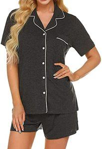 #2 Ekouaer Pajamas Set Short Sleeve Sleepwear