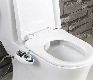 #2. SmartBidet SB-110 Bidet Seat, Electric, for Elongated Toilets with Stainless Steel