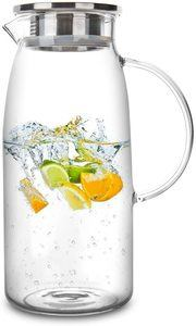 #3 60 Ounces Glass Pitcher with Lid, and Iced Tea Beverage Carafe