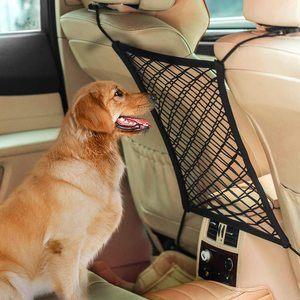 #3 AUTOWN Car Dog Barrier, Auto Seat Net Organizer