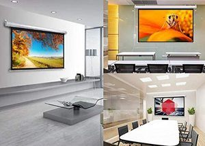 #3 Motorized Projector Screen 100 inch Electric Move Screen